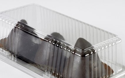 Clear ClearCake tray with hinged lids for cakes - Plus Pack