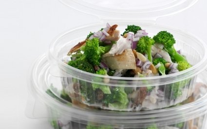 Clear ClearShow tray with hinged lid for salads - Plus Pack