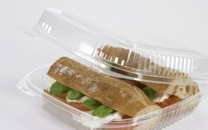 Sandwich tray with domed lid - Plus Pack