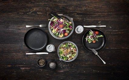 ShowBowl - clear rPET bowl for salads - Plus Pack